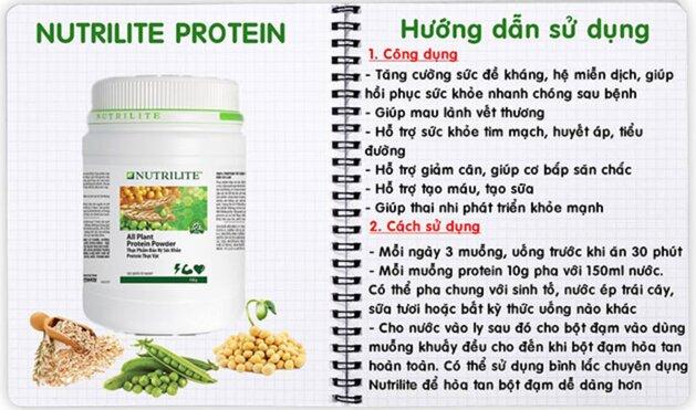 cong dung protein nutrilite